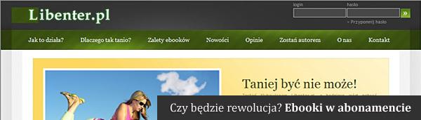 Libenter.pl sprzedaje ebooki w abonamencie