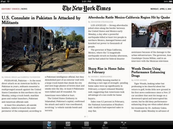 NYT na iPadzie
