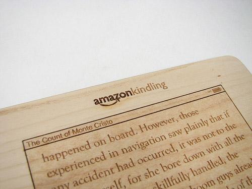 Drewniany Kindle 3