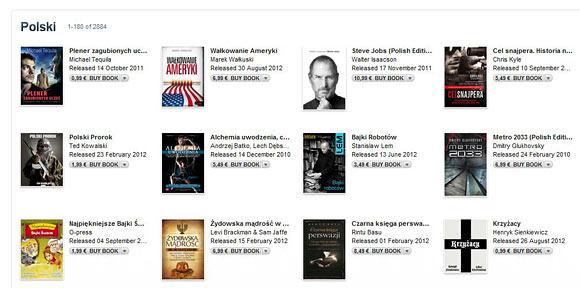 Polskojęzyczne ebooki w ibookstore