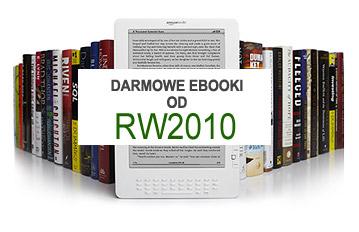 Darmowe ebooki od oficyny RW2010 + kindle na tle książek