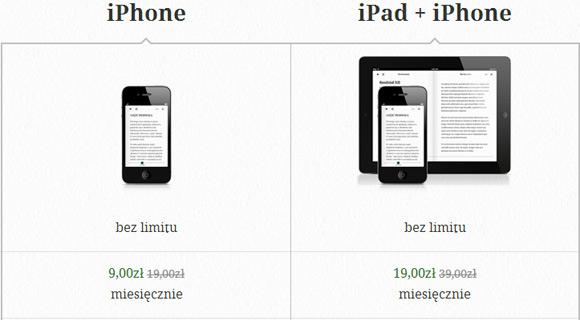Oferta abonamentów Legimi na iPada i iPhona