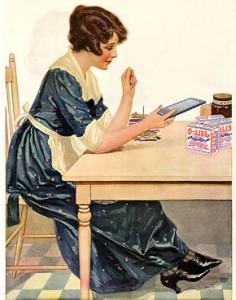 Kobieta czyta na czytniku Kindle